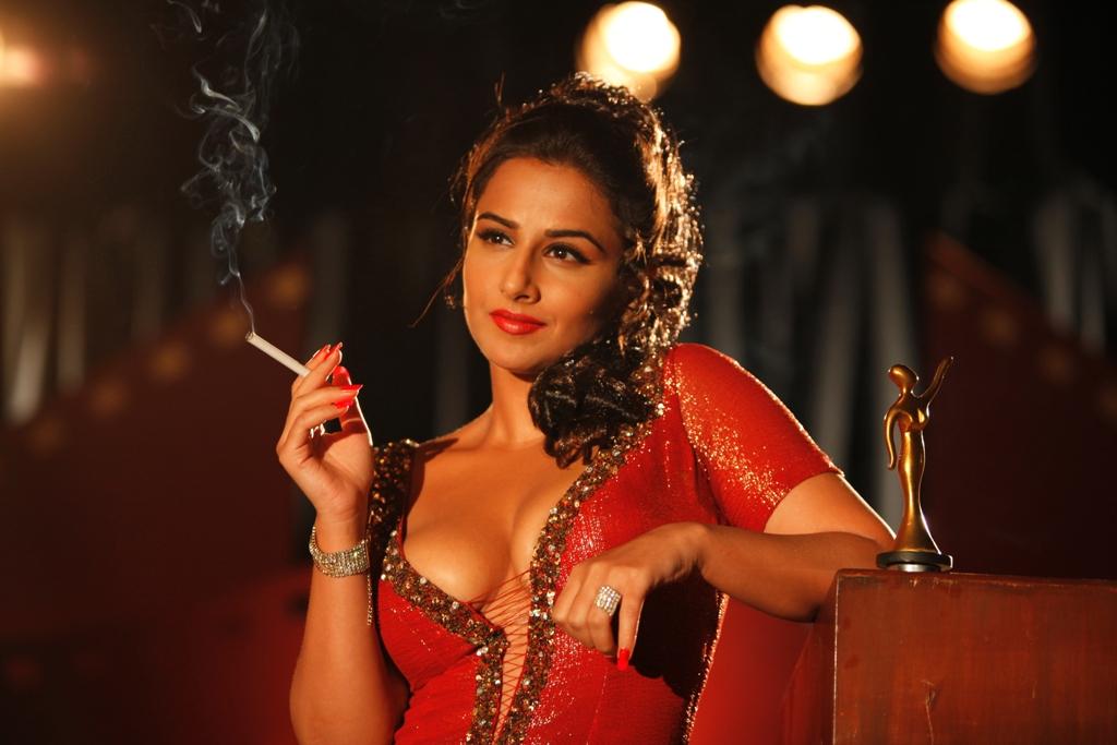 Sexy woman smoking cigarette high